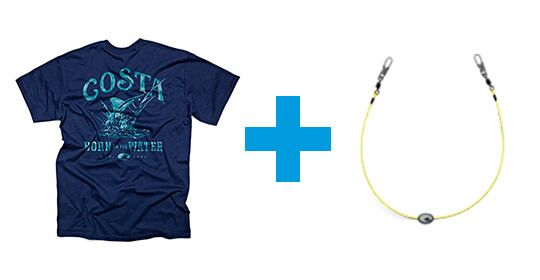 Camiseta y cordón de regalo con las gafas de sol Costa del Mar